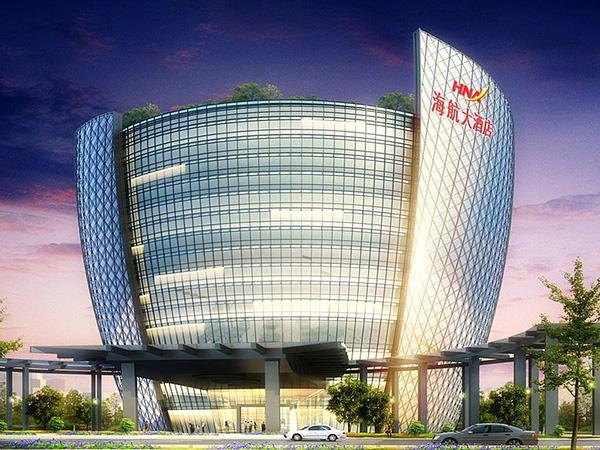 铝和金属建材工程案例之新海航大厦